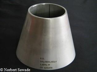 Reduzierstück 101,6/ 60,3 x 2,0/2,0 L = 76 mm