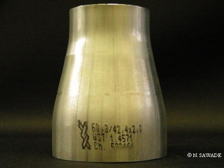Reduzierstück 60,3/ 42,4 x 2,0/2,0 L=76 mm